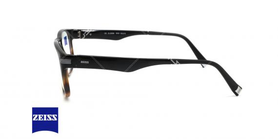 عینک طبی کائوچویی زایس  - ZAISS ZS20006 -رنگ مشکی قهوه ای - اپتیک وحدت - عکس زاویه کنار
