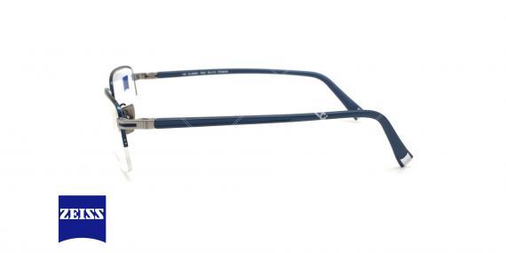 عینک طبی زیرگریف تیتانیومی زایس - ZEISS ZS40005 - رنگ سرمه ای - عکاسی وحدت - عکس زاویه کنار