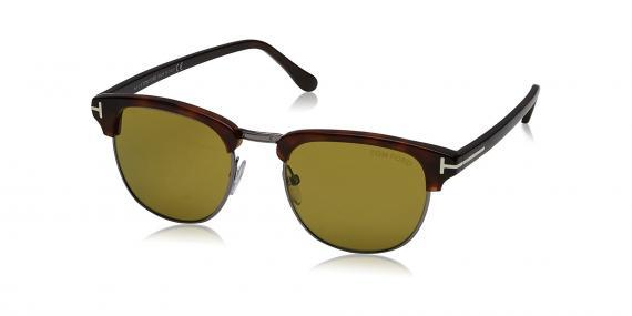 عینک آفتابی کلاب مستر شیشه سبز دسته قهوه ی ای تام فورد - خرید آنلاین - زاویه سه رخ