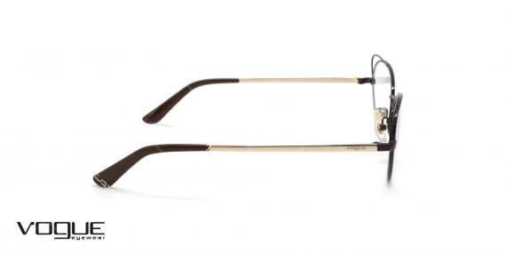 عینک گربه ای زنانه وگ - VOGUE VO4056 - رنگ مشکی و طلایی- عکاسی وحدت - عکس زاویه کنار