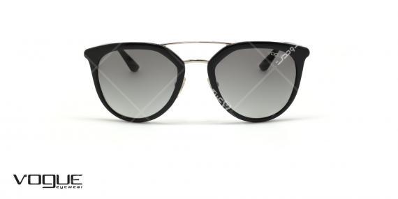 عینک آفتابی دوپل وگ - VOGUE VO5164S - رنگ مشکی - عکاسی وحدت - عکس زاویه روبرو