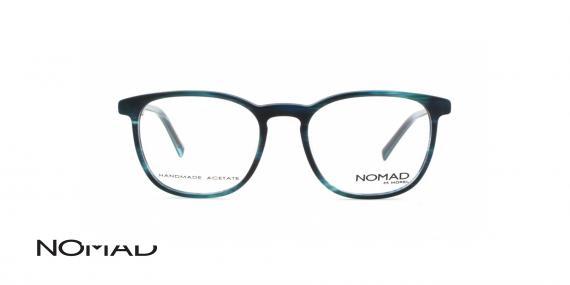 عینک طبی نوماد - کائوچویی طوسی آبی - زاویه روبرو