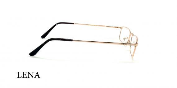 عینک مطالعه لنا - LENA LE449 - طلایی - عکاسی وحدت - زاویه کنار