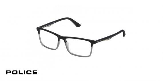 عینک طبی کائوچویی پلیس-POLICE VPL 467-رنگ مشکی توسی-اپتیک وحدت- عکس زاویه روبرو