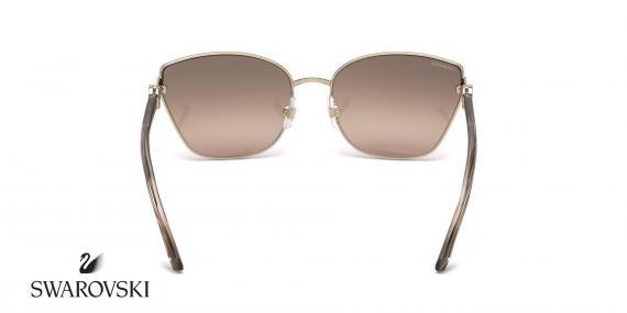عینک گربه ای فلزی سواروسکی  -SWAROVSKI SW167- فریم طلایی - اپتیک وحدت - عکس زاویه پشت