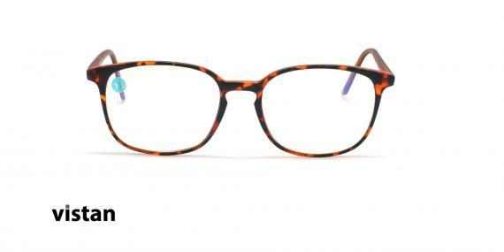 عینک آماده بلوکنترل مربعی ویستان VISTAN OB1028 XL - قهوه ای هاوانا - عکاسی وحدت - زاویه روبرو