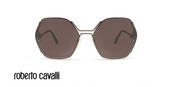 عینک آفتابی زنانه  چند ضلعی روبرتو کاولی - ROBERTO CAVALLI RC1056-رنگ قهوه ای - اپتیک وحدت- عکس روبرو