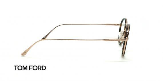 عینک طبی بیضی تام فورد - TOM FORD TF5521 - قهوه ای طلایی - عکاسی وحدت - زاویه کنار