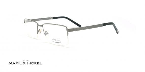 عینک طبی زیرگریف مورل - MARIUS MOREL 50001M - نقره ای -عکاسی وحدت - زاویه سه رخ
