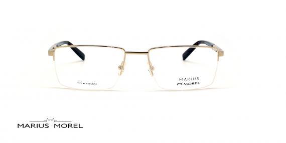 عینک طبی زیرگریف مورل - MARIUS MOREL 50020M - نقره ای - عکاسی وحدت  - زاویه روبرو