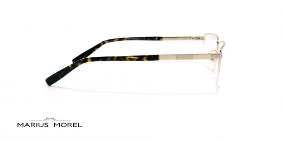 عینک طبی زیرگریف مورل - MARIUS MOREL 50020M - نقره ای - عکاسی وحدت  - زاویه کنار