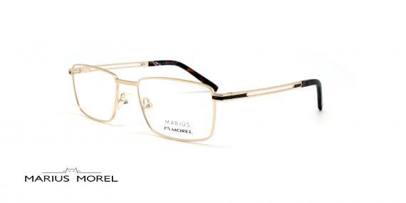 عینک طبی مستطیلی مورل - MARIUS MOREL 50032M - طلایی - عکاسی وحدت - زاویه سه رخ