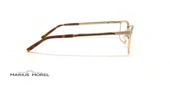 عینک طبی مستطیلی مورل - MARIUS MOREL 50037M - طلایی - عکاسی وحدت - زاویه کنار