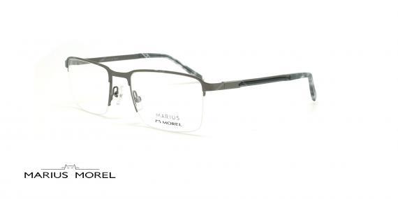 عینک طبی زیرگریف مورل - MARIUS MOREL 50038M -طوسی - عکاسی وحدت - زاویه سه رخ