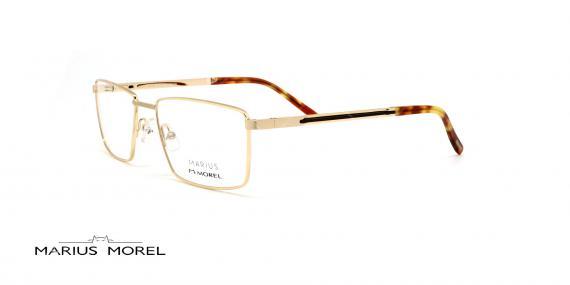 عینک طبی مستطیلی مورل - MARIUS MOREL 50039M - طلایی - عکاسی وحدت - زاویه سه رخ