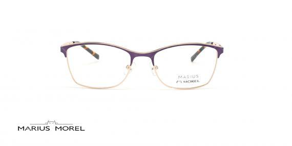 عینک طبی زیرگریف مورل - MARIUS MOREL 50042M - طلایی بنفش - عکاسی وحدت - زاویه روبرو
