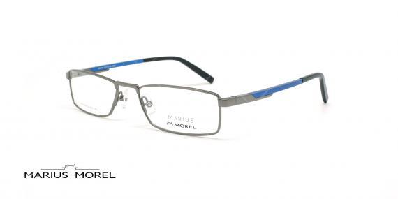 عینک  مطالعه مورل - MARIUS MOREL 50058M -طوسی آبی - طلایی قهوه ای - عکاسی وحدت - زاویه سه رخ