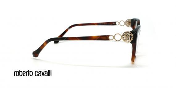 عینک طبی گربه ای روبرتو کاوالی - ROBERTO CAVALLI LARI RC5058 - قهوه ای هاوانا - عکاسی وحدت - زاویه کنار