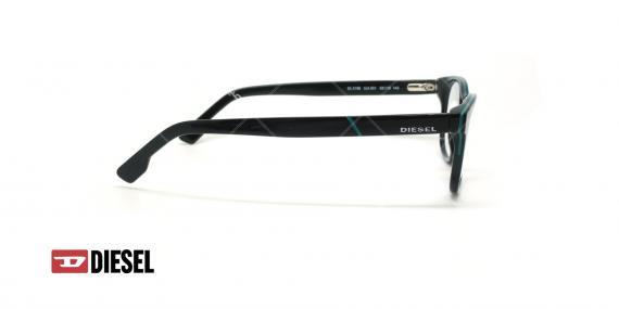عینک طبی مستطیلی دیزل - DIESEL DL5198 - مشکی - عکاسی وحدت - زاویه کنار