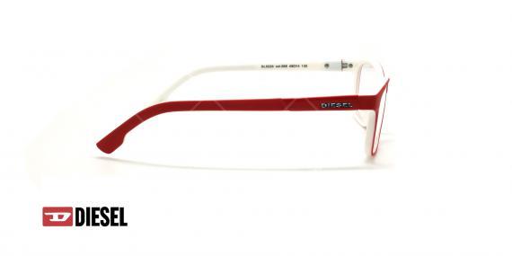 عینک طبی مستطیلی دیزل - DIESEL DL5226 - قرمز - عکاسی وحدت - زاویه کنار