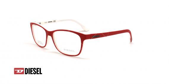 عینک طبی مستطیلی دیزل - DIESEL DL5226 - قرمز - عکاسی وحدت - زاویه سه رخ