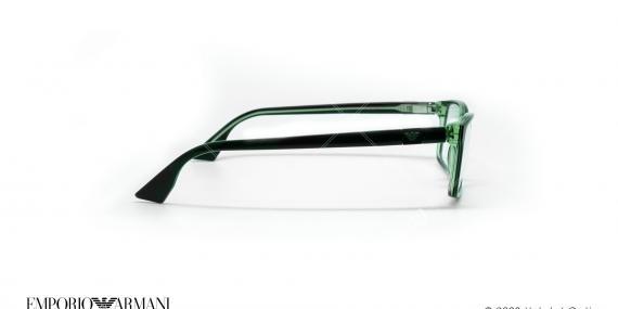 عینک طبی مستطیلی امپریو آرمانی - Emporio Armani EA9674 - مشکی سبز - عکاسی وحدت - زاویه کنار