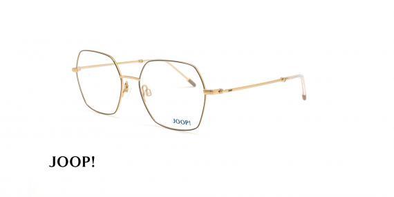 عینک طبی چند ضلعی جوپ - JOOP 83254 -مشکی طلایی - عکاسی وحدت - زاویه سه رخ