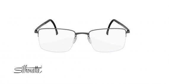 عینک طبی مستطیلی زیرگریف سیلوئت - Silhouette Illusion 5457- طوسی - عکاسی وحدت - زاویه روبرو