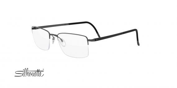 عینک طبی مستطیلی زیرگریف سیلوئت - Silhouette Illusion 5457- طوسی - عکاسی وحدت - زاویه سه رخ