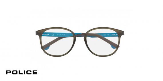 عینک طبی پلیس-VPL547-  رنگ مشکی-اپتیک وحدت-عکس از زاویه روبرو