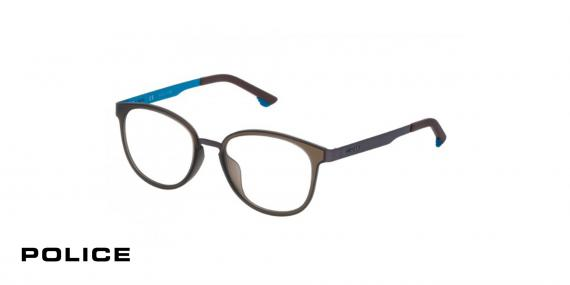 عینک طبی پلیس-VPL547-  رنگ مشکی-اپتیک وحدت-عکس از زاویه سه رخ
