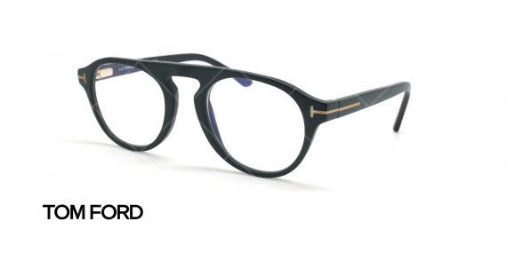 عینک طبی رویه دار تام فورد - TOM FORD TF5533-B - مشکی - عکاسی وحدت - زاویه سه رخ