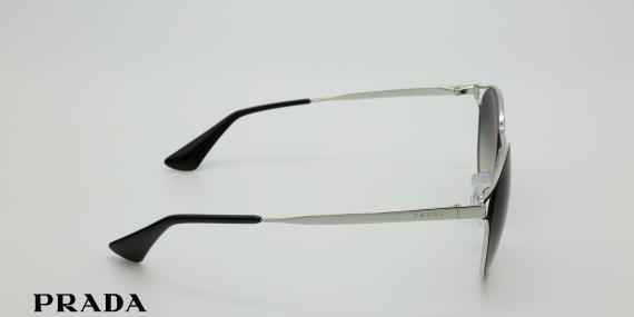 آفتابی پرادا مدل SPR62S - عکاسی وحدت - زاویه کنار - رنگ نقره ای مشکی