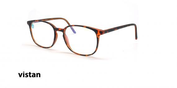 عینک آماده بلوکنترل مربعی ویستان VISTAN OB1028 XL - قهوه ای هاوانا - عکاسی وحدت - زاویه سه رخ