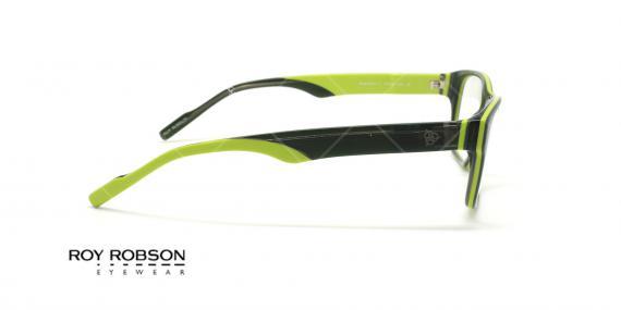 عینک طبی کائوچویی روی رابسون  ROYROBSON 60021 - مشکی سبز - عکاسی وحدت - زاویه کنار