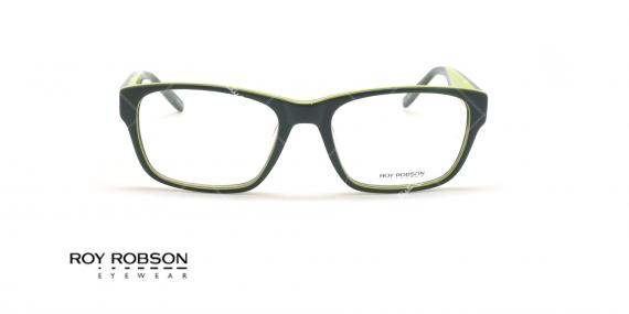 عینک طبی کائوچویی روی رابسون  ROYROBSON 60021 - مشکی سبز - عکاسی وحدت - زاویه روبرو