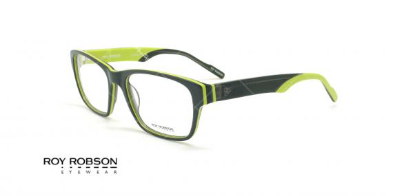 عینک طبی کائوچویی روی رابسون  ROYROBSON 60021 - مشکی سبز - عکاسی وحدت - زاویه سه رخ