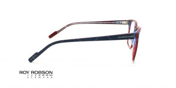 عینک طبی کائوچویی روی رابسون ROYROBSON 60049 - مشکی قرمز - عکاسی وحدت - زاویه کنار