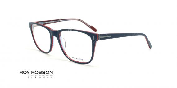 عینک طبی کائوچویی روی رابسون ROYROBSON 60049 - مشکی قرمز - عکاسی وحدت - زاویه سه رخ