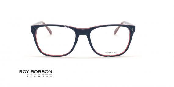عینک طبی کائوچویی روی رابسون ROYROBSON 60049 - مشکی قرمز - عکاسی وحدت - زاویه روبرو