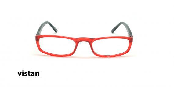 عینک مطالعه نیمه ویستان VISTAN 6009- قرمز مشکی - عکاسی وحدت - زاویه روبرو