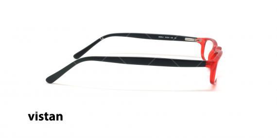 عینک مطالعه نیمه ویستان VISTAN 6009- قرمز مشکی - عکاسی وحدت - زاویه بقل