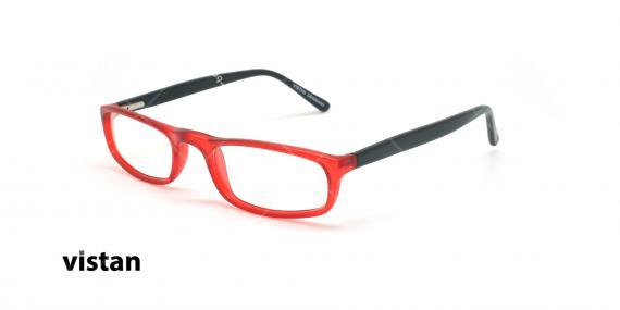 عینک مطالعه نیمه ویستان VISTAN 6009- قرمز مشکی - عکاسی وحدت - زاویه سه رخ