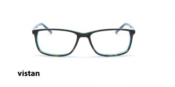 عینک طبی کائوچویی ویستان VISTAN 6043 - مشکی آبی - عکاسی وحدت - زاویه روبرو