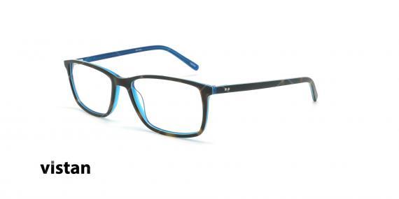 عینک طبی کائوچویی ویستان VISTAN 6043 - مشکی آبی - عکاسی وحدت - زاویه سه رخ