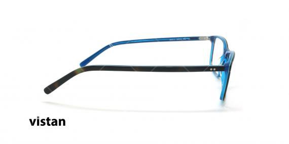 عینک طبی کائوچویی ویستان VISTAN 6043 - مشکی آبی - عکاسی وحدت - زاویه کنار