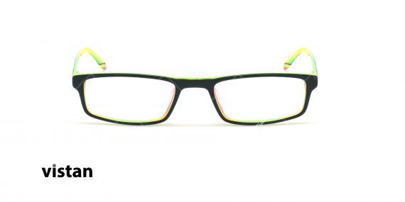 عینک مطالعه نیمه ویستان VISTAN 6053 - مشکی زرد- عکاسی وحدت - زاویه روبرو