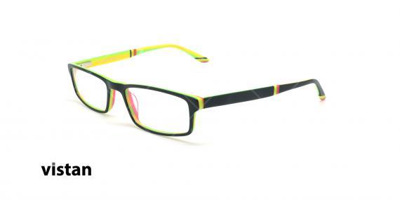 عینک مطالعه نیمه ویستان VISTAN 6053 - مشکی زرد- عکاسی وحدت - زاویه سه رخ