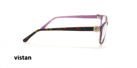 عینک طبی کائوچویی ویستان VISTAN 6264 - قهوه ای هاوانا - عکاسی وحدت - زاویه کنار