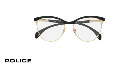 عینک طبی پلیس VPL629 - رنگ مشکی و طلایی-اپتیک وحدت-عکس زاویه روبرو
